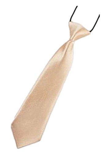 familientrends Kinder Jungen Baby Krawatte Binder Schlips Hochzeit Kommunion Konfirmation Party, Grösse Accessoire:Klein;Farbe:Beige