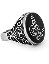 Remi bijou anillo para hombres 'Tugra' sello del Imperio Otomano–Longitud ajustable