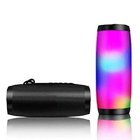AMBLiVSAIELLIN WILES TG-157 Bluetooth Wireless Flash Light Subwoofers Hands-free Mini Call Profile Stereo Support TF USB Card in Hi-Fi Speakers (Black)