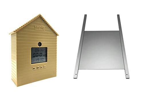 *Metalltür + Automatische Huhn Haus Türöffner mit Lichtsensor und Timer*