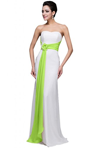 Sunvary modesta in Chiffon, da donna, per abiti da sera o da damigella d'onore Gowns lime green