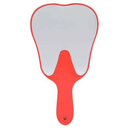 Espejo de mano con lupa, herramienta de espejo de mano de cuidado dental de mango de plástico lindo...
