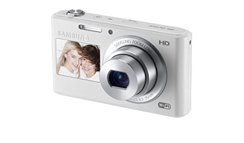 Samsung DV150F 16.2MP Smart WiFi Digital Camera with 5x Optical Zoom and 2.7-inch Front and 1.5-inch Rear Dual LCD Screen (White), 4GB Card, Camera Case