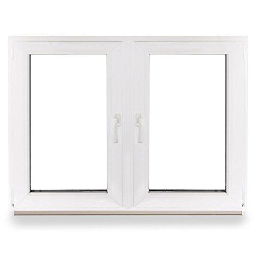 Kellerfenster 2 flüglig - Kunststoff - Fenster - weiß - BxH: 100 x 90 2-fach-Verglasung - 70mm Profil - verschiedene Maße