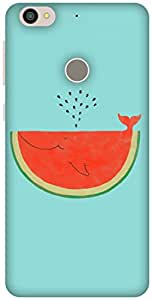 The Racoon Lean printed designer hard back mobile phone case cover for Letv Le 1s. (Watermelon)