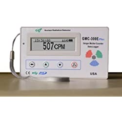 GQ GMC-300E-Plus Digital Contador Geiger Nulcear la radiación del monitor del detector del medidor dosímetro Beta Gamma X datos de rayos registrador registrador de monitoreo en tiempo real con el cargador de pared UK