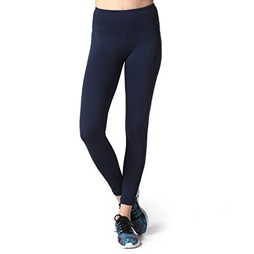 Lapasa Yoga Lange Leggings, Strechy Yoga Sporthosen, atmungsaktiv, hautsympathisch und elastisch (M, Dunkelblau)