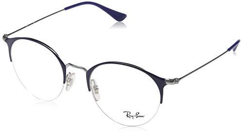 Ray-Ban Rayban Unisex-Erwachsene Brillengestell RX3578V, Grau (Gunmetal/Shiny Blue), 48