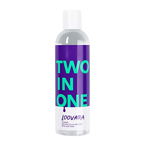 Preisvergleich Produktbild Loovara TWO IN ONE - 2 in 1,  pflegendes Massage-Öl und Gleitgel in einem / mit Aloe Vera / natürliche Inhaltsstoffe,  absolut duftneutral / für Vorspiel,  Sex und Toys geeignet / dermatologisch getestet