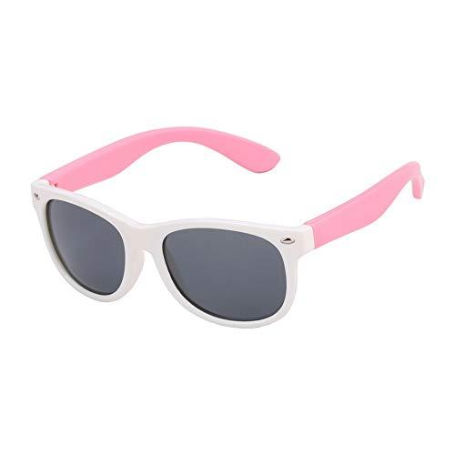 Mojinglin occhiali da sole per bambini occhiali da sole occhiali da sole lenti polarizzate ragazze silicone bambino specchio occhiali da bambino rj