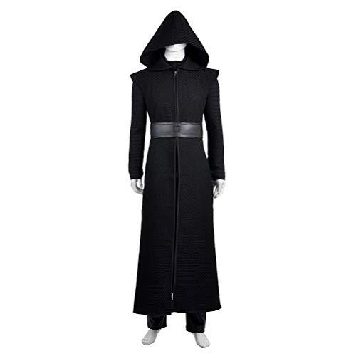 CosplayJet Herren Cosplay Kostüm für Star Wars: Das Erwachen der Macht Kylo Ren Ganzkörperanzug Halloween Kostüme Small