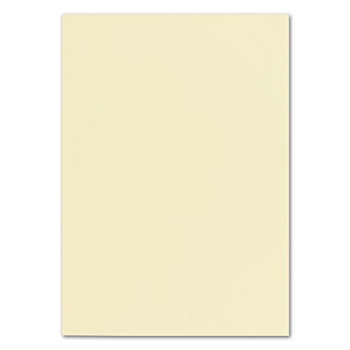 50 DIN A4 Papier-bögen Planobogen -Vanille/Creme - 240 g/m² - 21 x 29,7 cm - Bastelbogen Ton-Papier Fotokarton Bastel-Papier Ton-Karton - FarbenFroh®