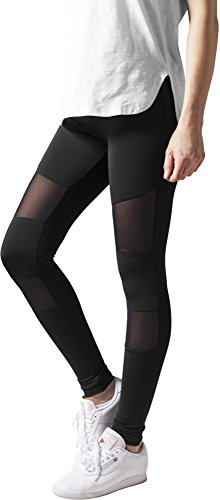 Urban Classics Ladies Tech Mesh Leggings, Schwarz (black 7), M