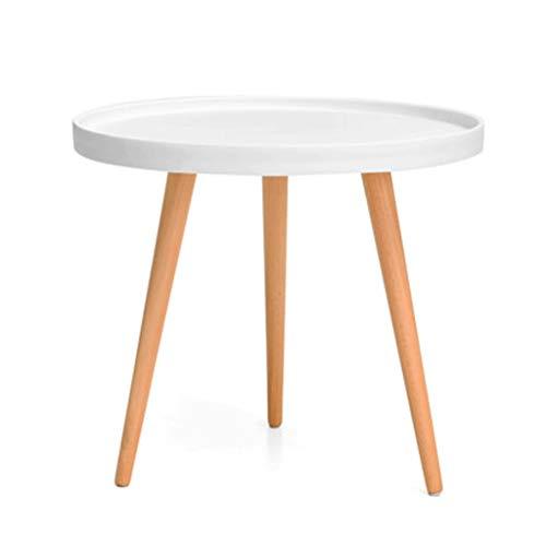 Table d'appoint Table Basse multifonctionnelle Coin Moderne Simple Mini Table Ronde canapé Table Ronde décontractée (Couleur : Blanc)