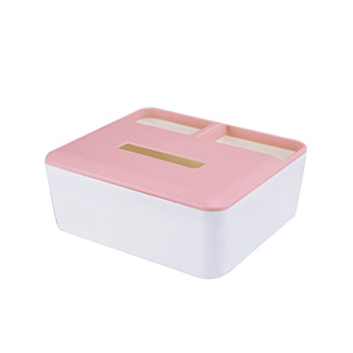 display08 Mehrzweck Desktop Container Telefon Kosmetik Kunststoff Tissue-Box rose