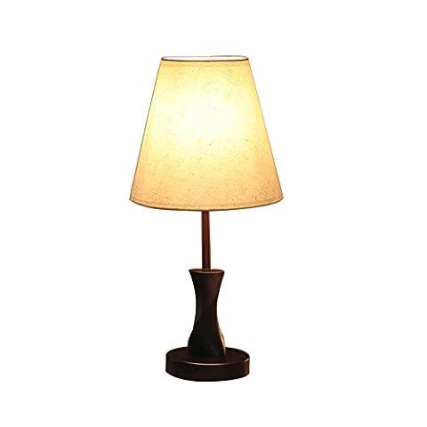 XIANGYU Lampe de table en bois massif Minimaliste Nouveauté romantique Table de chevet Lampes pour l'apprentissage de travail Nightstand Salon Chambre veilleuse ( Color : Beige