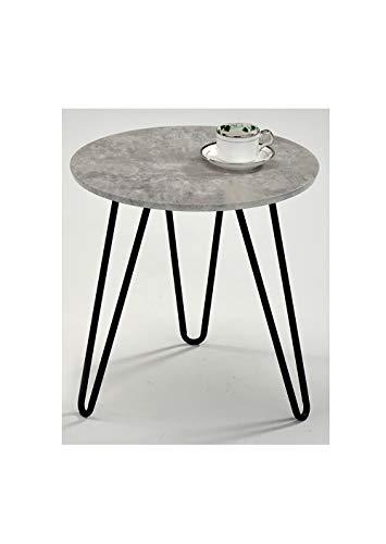 Ronde Meubletmoi Table Basse Vintage Bout Pied Métal De Canapé T3FJcKl1