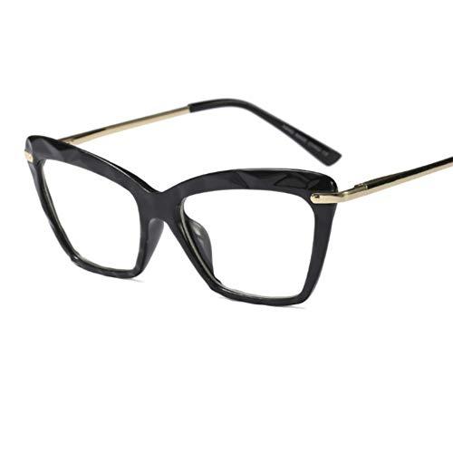 Fashion Square Brillen Für Frauen Trendy marke Sexy cat eye brillen rahmen Optische Computer Brillen oculos Armacao 2019 (Cat Eye Kontakt)