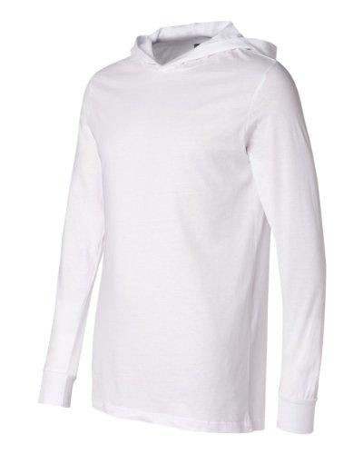 Canvas Unisex Jersey Kapuzen-T-Shirt, langärmlig (Medium) (Weiß) (Weißes Kapuzen-shirt)