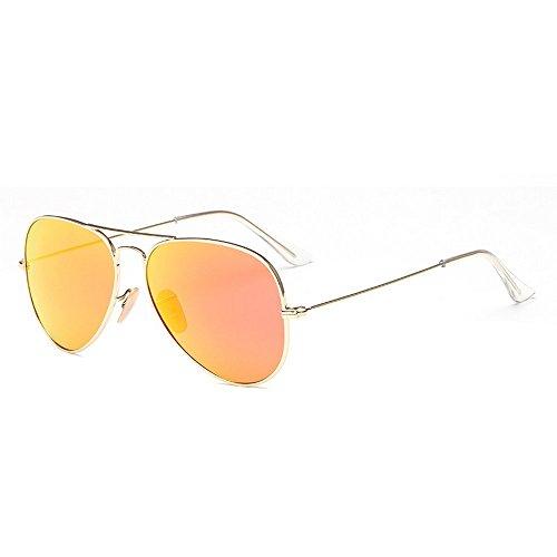 JUNHONGZHANG Polarisierte Sonnenbrille Beschichteter Polarisator Sonnenbrillen Fashion Kröten Damen Bunte Sonnenbrillen, Gold Frame Iris