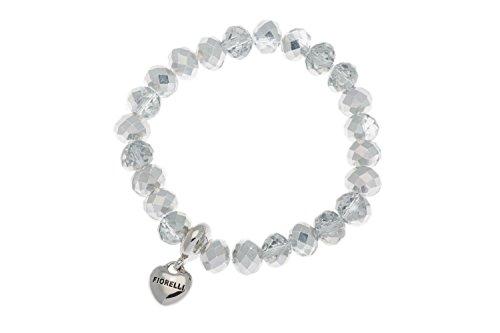 fiorelli-costume-colore-trasparente-e-argento-braccialetto-elastico-con-perline-e-ciondolo-a-forma-d
