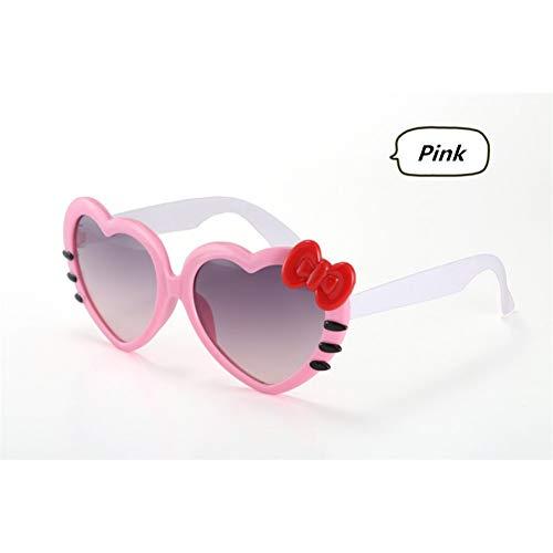 CCGKWW Kindersonnenbrille Kindermode Herzförmige Nette Uv400 Designer Rahmen Brillen Baby Mädchen Sonnenbrille Lentes De Sol Oculos