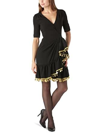Manoush Basic Crepe - Robe - Fantaisie - Femme - Noir - 40