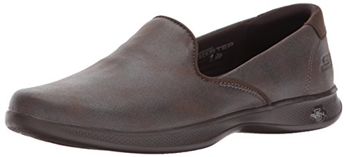 Skechers Performance Womens Go Step Lite-Determined Loafer Flat Chocolat