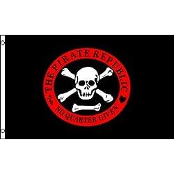 Bandera de la República de los piratas, 150 x 90 cm.