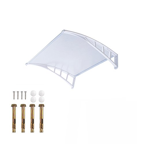 door-canopy-awning-12075cm-white-window-rain-snow-shelter-front-porch-outdoor-shade-patio-roof-cover