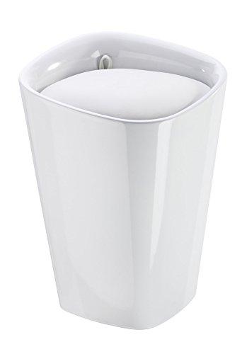 Wenko 21988100 Candy Badhocker mit abnehmbarem Wäschesack, Fassungsvermögen, 20 L, eckig, Kunststoff, 35 x 50 x 35 cm, weiß - 2