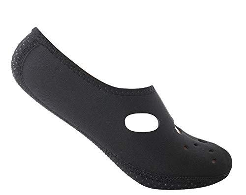iSpchen Calcetines de Agua de Playa - Calcetines de Playa Antideslizantes Calcetines de Buceo Antideslizantes Unisex Zapatos de Yoga Surf Sailing Sport,Negro XL