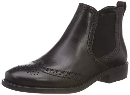 Tamaris Damen 25493-21 Chelsea Boots, Schwarz (Black Leather 3), 39 EU