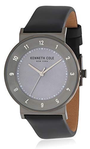 Kenneth Cole Custodia da donna in bronzo con cinturino in pelle nera KC50074001