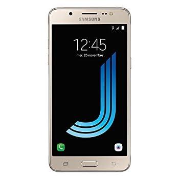 """Samsung Galaxy J5 (2016) - Smartphone 4G de 5.2"""", Quad Core Cortex-A53,  SIM única, 2 GB de RAM, 16 GB, camara de 13 MP, Android, color dorado"""