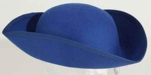 Orlob Kostüm Zubehör Dreispitz Rohling blau Karneval Fasching KW 57/58