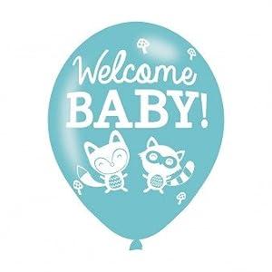 Amscan-990070211-inch Bienvenido bebé globos de látex