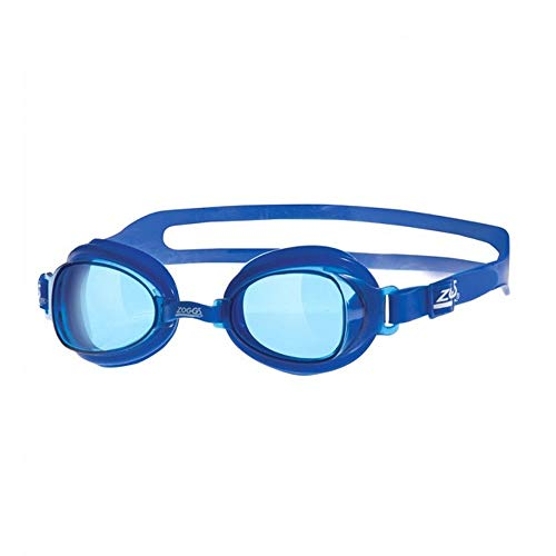Zoggs Otter - Gafas de natación con protección UV y Correa de Silicona para la Cabeza, Color Azul