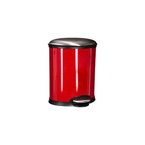 Paris Prix - Poubelle Ovale 6l Rouge