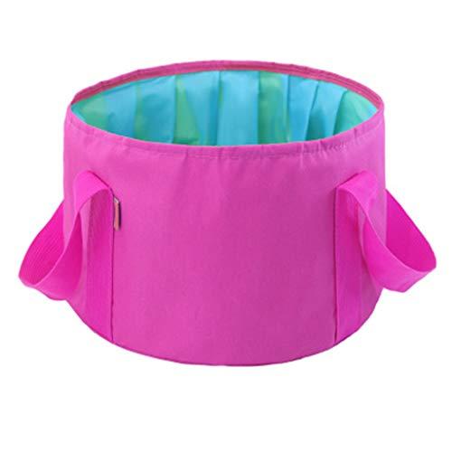 Lavabos de Salle de Bain Pliable lavabo Portable lavabo Voyage Pliant lavabo Voyage extérieur Sac Pliant (Color : Pink, Size : 36 * 19cm)