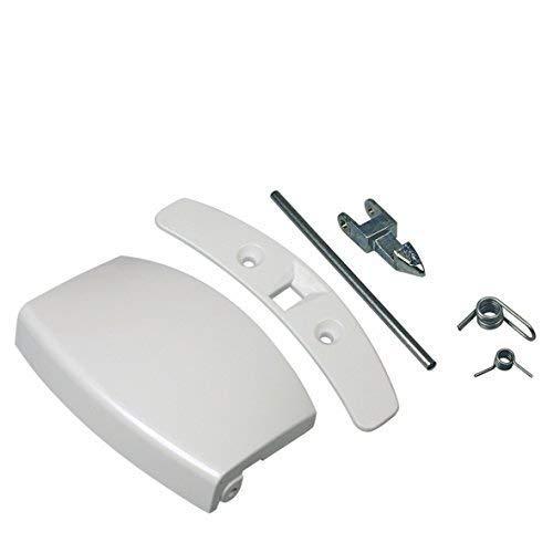ür Griff Bullauge Set komplett mit Schließnase weiß Waschmaschine Electrolux AEG 405508700 ()