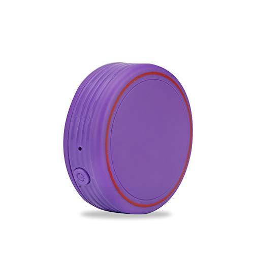 DJLOOKK Perros Ubicación GPS Rastreadores de Actividad Mini Miniatura Impermeable Mascota Inteligente localizador GPS,Purple
