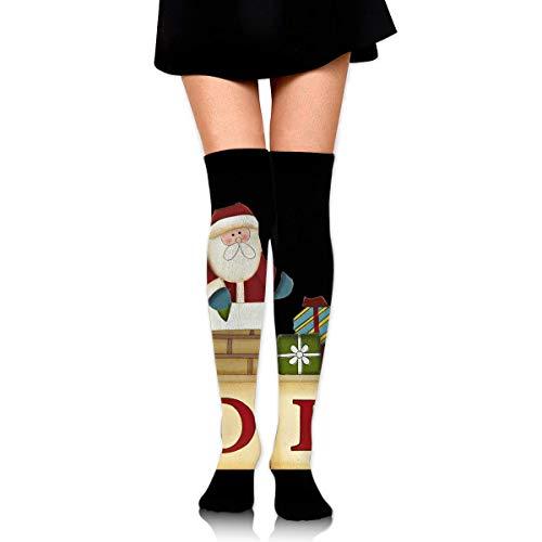 DFSDFSASDF Noel Blocks Christmas Santa Baba Papa Pere Ankle Stockings Over The Knee Sexy Womens Sports Athletic Soccer Socks - Noel Block