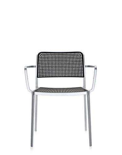 Kartell Audrey - Silla de Aluminio Pulido Interior Sentado Negro