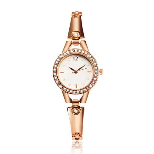 nouvelle arrivee edc81 5a20e Montre de Luxe Simple Alliage Or Rose Strass Hoverxe Diamant Haut de gamme  Joker Bracelet Montre Mode Fil D'acier Bracelet Cadran Rond Bijoux Élégant  ...