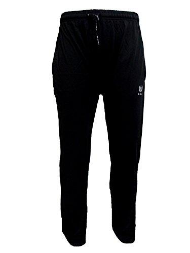 pantalone uomo lungo sportivo in cotone largo giù calibrato BE BOARD art. 910 Nero