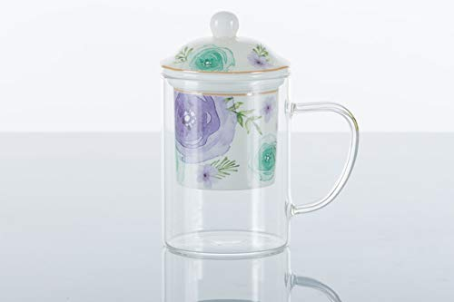 Kharma living cincin bomboniere tisaniera vetro fiori moderni a7631