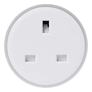Wanfor Smart Plug WiFi Fernbedienung UK-Steckdose, Timer, LED, kein Hub, energiesparend, 5,7 x 5,7 cm