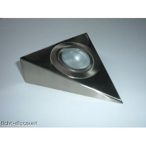 C-light - Edelstahl Mbel Unterbauleuchten Set 5 X 20 W