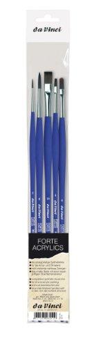 da Vinci 5273 Série acryliques Lot de pinceaux, EN Poils, Blanc/transparent/bleu, 30 x 30 x 30 cm